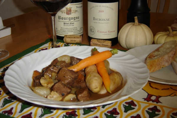 Beef Bourguignon & Burgundy Wine