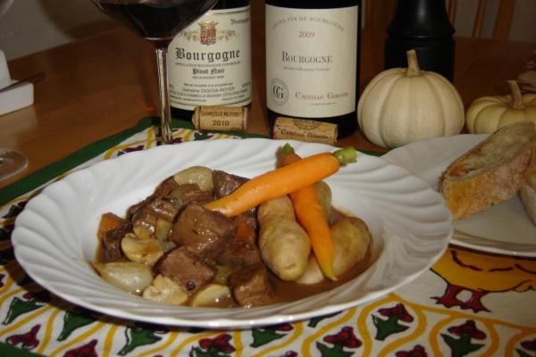 Beef Bourguignon & Burgundy Wine