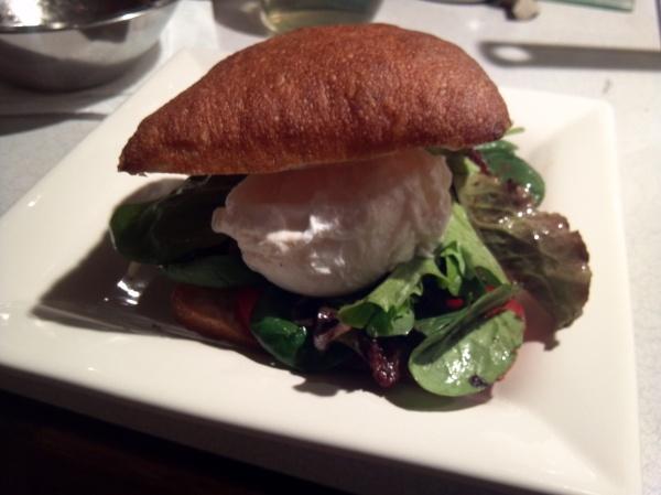 salad lyonnaise sandwich