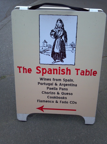 spanish table sign