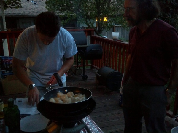 The Men Cooking Scallops