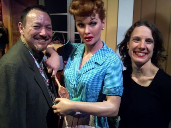 My husband and me with Lucille Ball at Madame Tussauds.