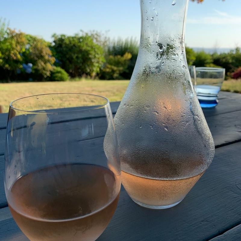 Fresh rose wine